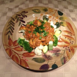 Chicken Tikka Masala over veggies