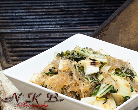 Grilled Bok Choy Glass Noodle Salad