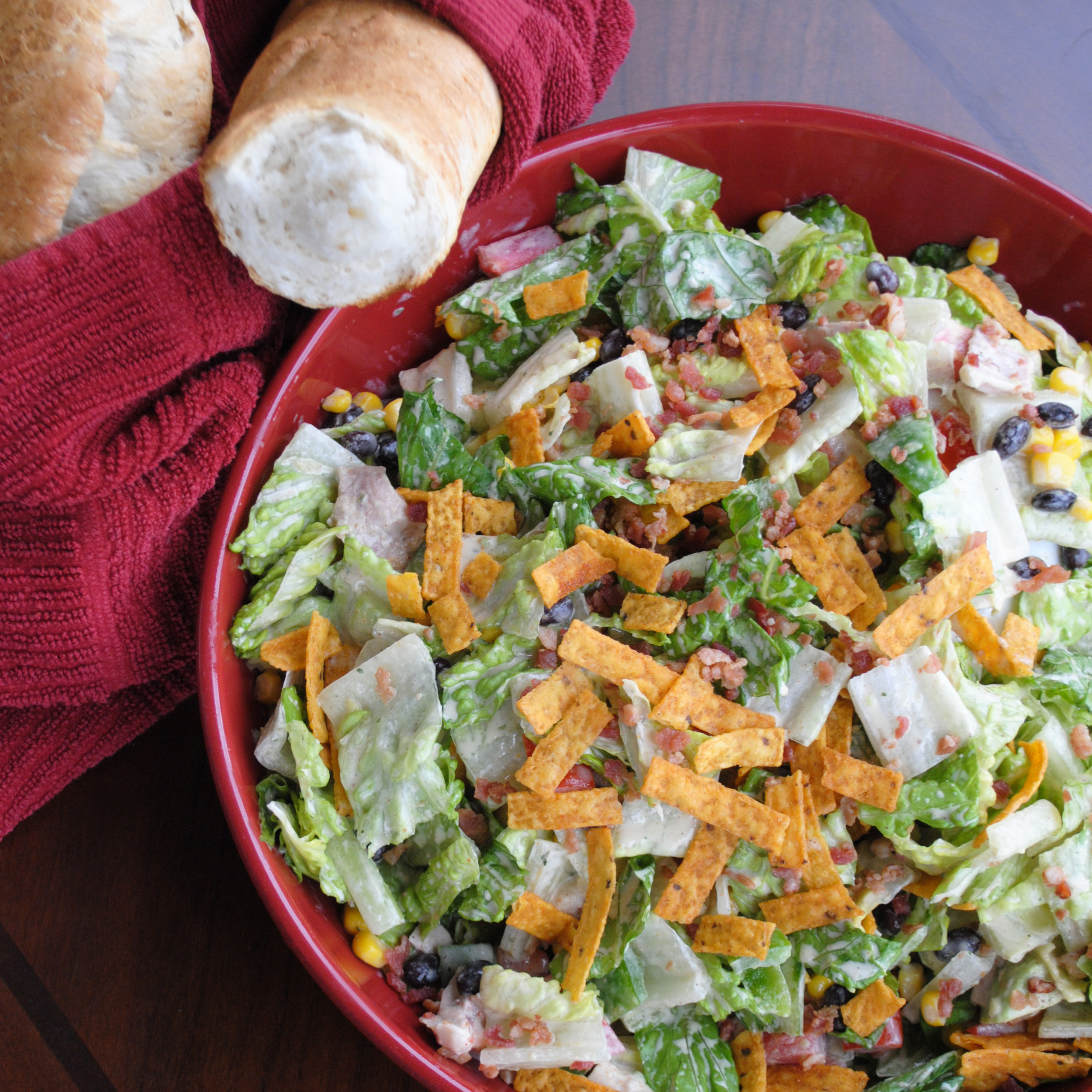 Southwest Avocado Ranch Salad