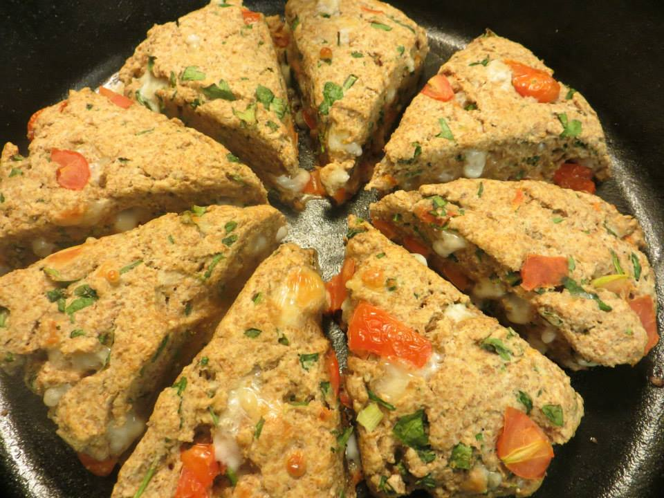 Tomato and Spinach Whole Wheat Scones