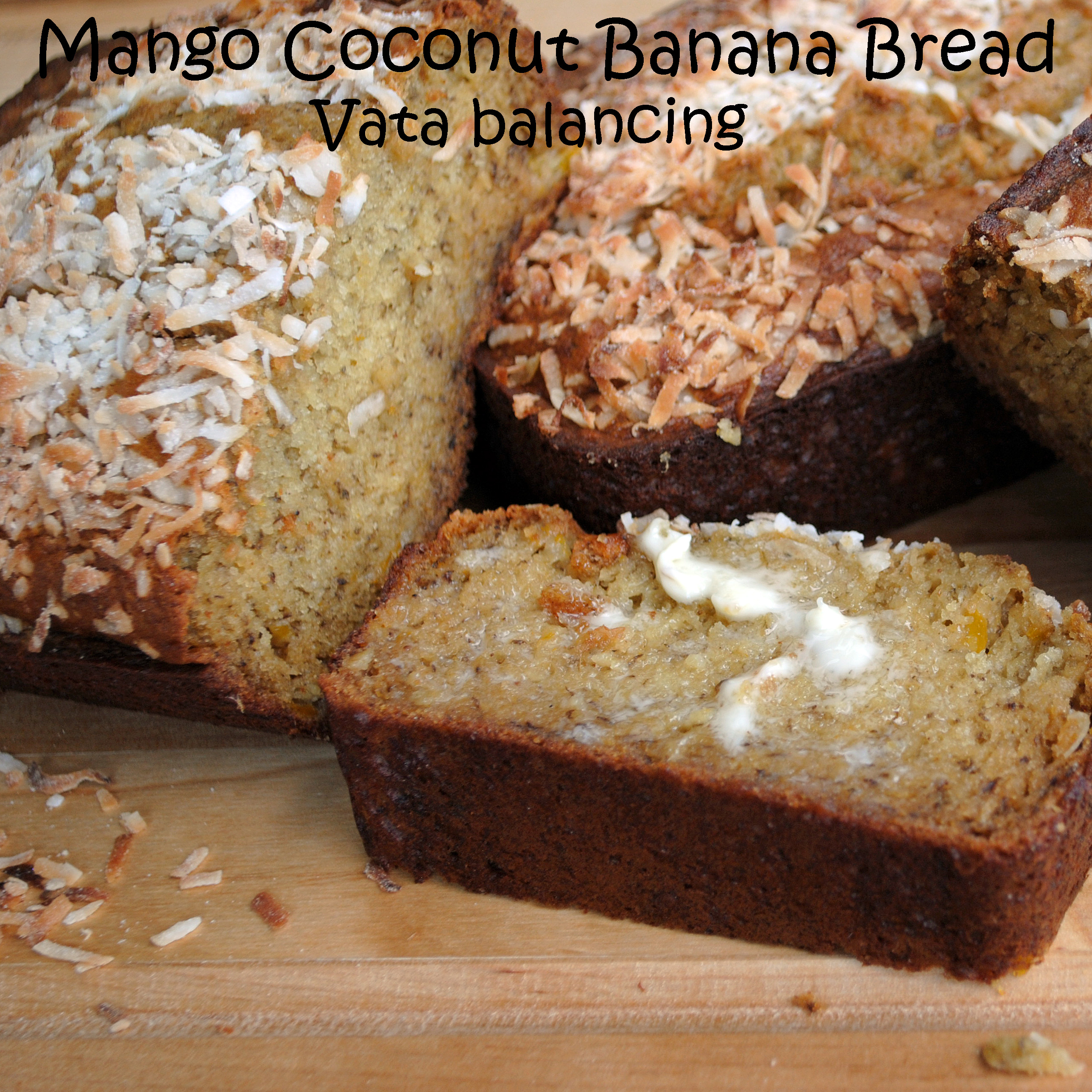 Mango Coconut Banana Bread