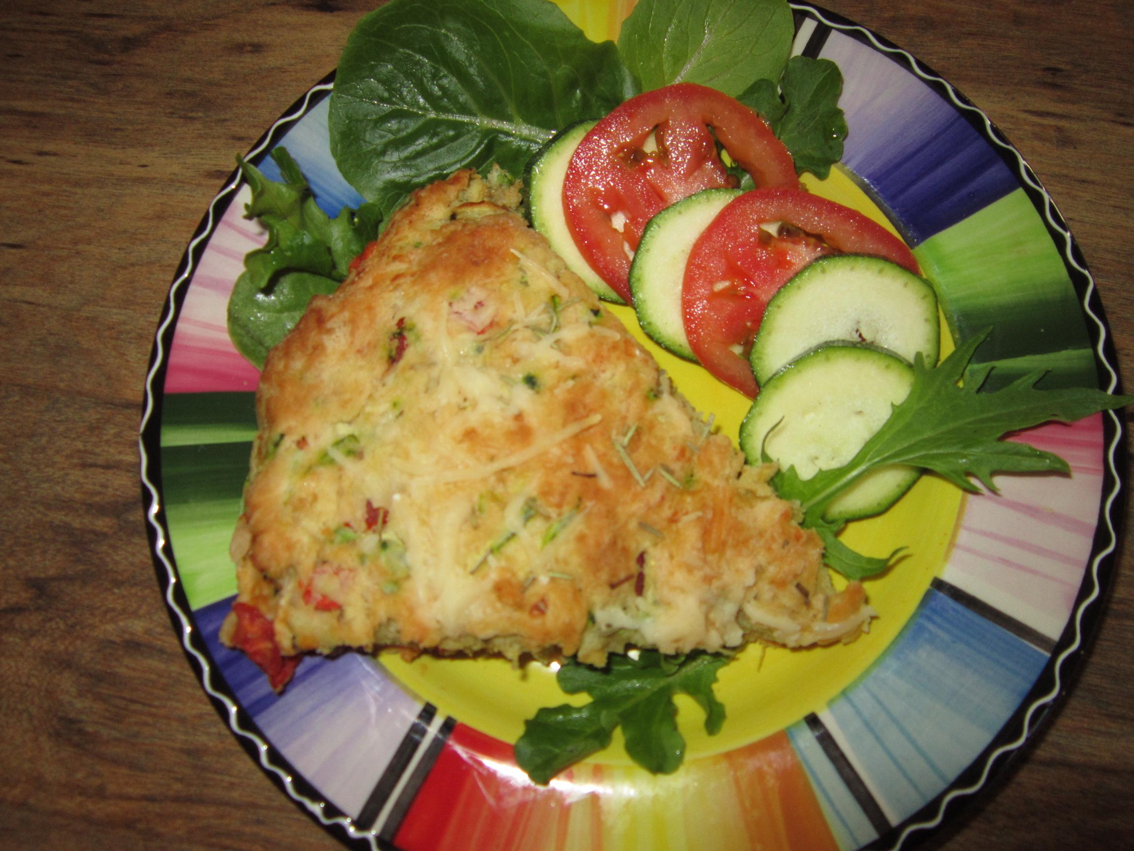 Parmesan Zucchini Tomato Herb Bread