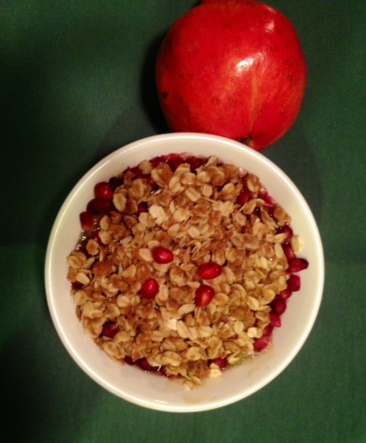Pomegranate Apple Crisp