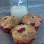 Tasty Strawberry Cheesecake Muffins